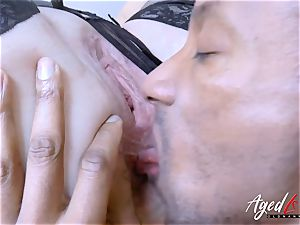 AgedLovE Lacey Starr huge-chested platinum-blonde Mature hardcore