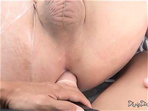 Dana mistreats her stud with a massive fuck stick