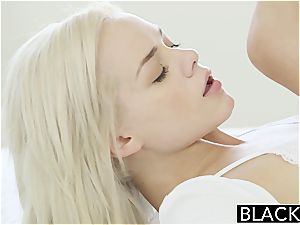 Elsa Jean can barely fit his dark-hued fuck-stick inwards her