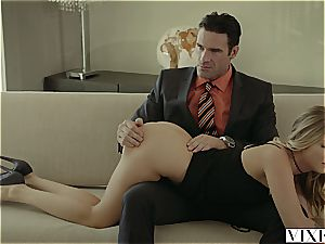 Rich manager penetrates two super-fucking-hot blondes