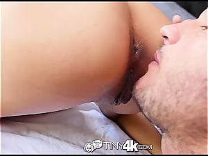 petite Chloe Amour takes meatpipe deep