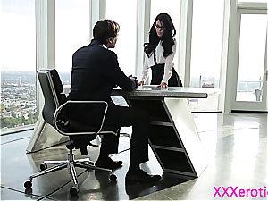 youthful secretary punished by her boss