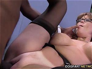 wonderful milf Darla Crane gets buttfuck from massive ebony trunk