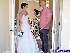 pummeling Jenni on her wedding day