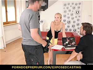 exposed casting - curvaceous babe bang-out knowledge test in audition