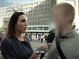 HITZEFREI German duo from street plow on camera