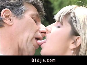 Gina Gerson gets ass fucking from an aged stud