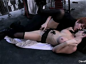 Lily Cade the cop penetrates Dava
