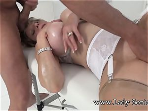 woman Sonia Mature babe lubricated Up And blowing beef whistle