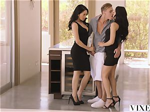 VIXEN scorching Latina Shares Her beau With roomie
