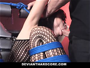 DeviantHardcore nasty asian Gets cock-squeezing puss flogging