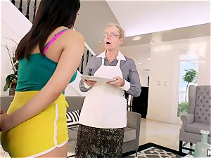 Valentina Nappi hammered in her minge with her grandmother sleeping in the room