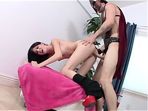 double penetrating with handsome Aletta Ocean