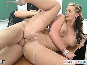 big-boobed honey Phoenix Marie gets donk torn up in classroom