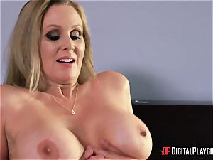 fuck-fest with chesty housewife Julia Ann and her stepdaughter