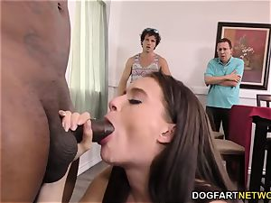 cuckold brother and father watch Lana Rhoades takes big black cock