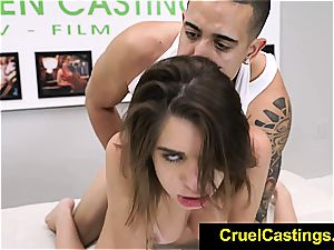 Joseline Kelly restrained while adoring sausage