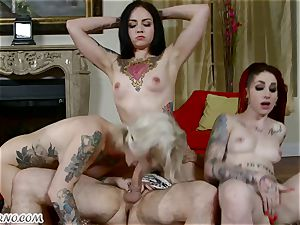 goth hoes Kleio Valentien, Sheena Rose And Necro Nicki in swinger bang-out