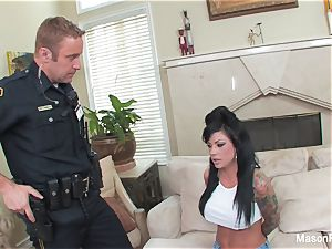 Bad doll Mason Moore gets porked by a cop