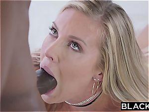 Samantha Saint's slit gets destroyed by a enormous black monster spear