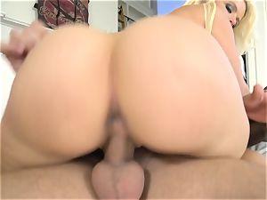 swimsuit blondie Anikka Albrite taken inwards and porked