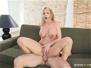 Britney Amber taking jizz on her face