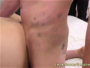 German first-timer swinger party hump