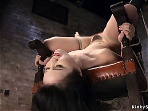 tied like a hog japanese in strap suspension upside down