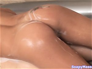 Stephanie Kane does the finest teasing massage for her customer