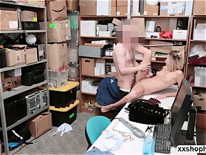 Shoplifter Emma Hix gets drill in the office by LPs penis