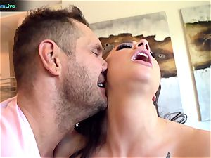 Exotic ultra-cutie Chanel Preston getting a lovely internal ejaculation
