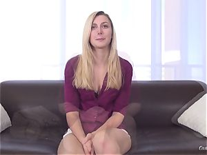 audition session with handsome blonde Alexa grace