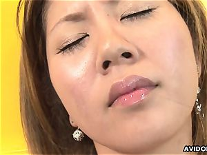 vapid chested asian playthings her shaggy cunny for the camera