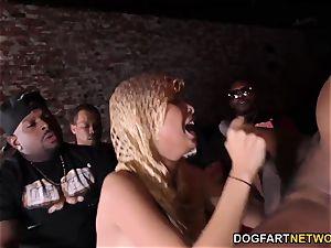 interracial gangbang With anal invasion superslut Aaliyah Hadid