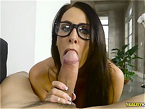 young wanker got lucky with a magnificent blue eyed milf