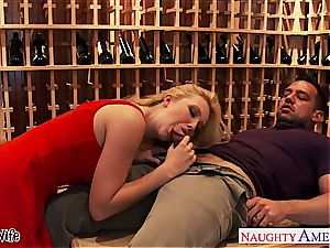 light-haired wife Samantha Rone poke and jump prick