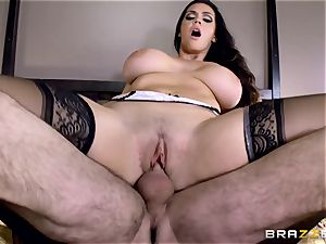 humungous breasted Alison Tyler porks her paramour as she speaks to her fellow