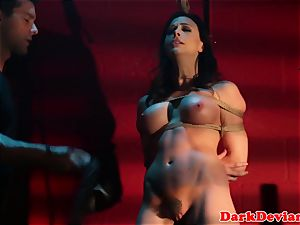 cropped Chanel Preston banged while tiedup
