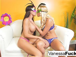 Vanessa cage with Capri Cavanni