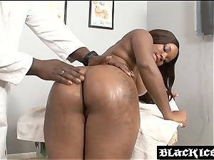 ginormous ass ebony doggystyled by her medic