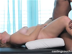 plump beauty Dee arrives to the CastingCouch HD