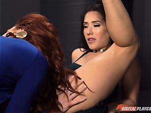 cunt gobbling galore with naughty Jayden Cole and Eva Lovia