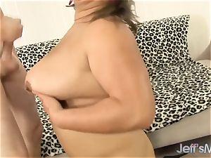 plus-size humungous unshaved labia poked