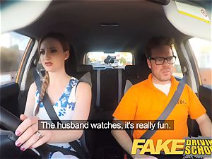 faux Driving school Nerdy sandy-haired nubile student