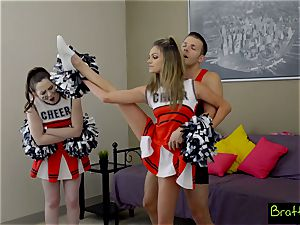 nubile cheerleader drills her stepbrother