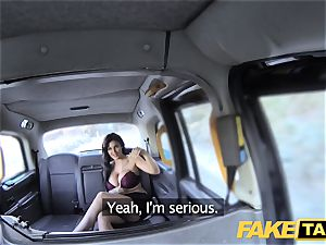 faux taxi Frustrated big-boobed Candy Sexton