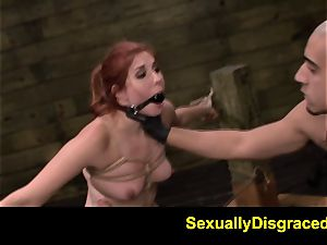 FetishNetwork Rose crimson strapped at sybian saddle