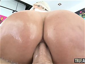 TRUE anal invasion stellar Nina Elle caboose romped and creampied