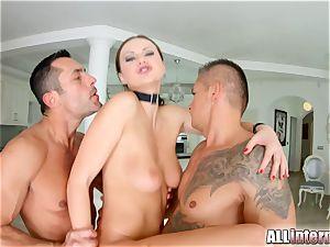 Tina Kay anal gangbang creampie on All inward part two