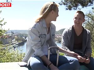 Russian babe screwed hard By Czech pecker - LETSDOEIT